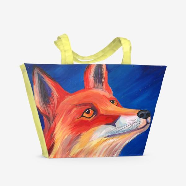 Пляжная сумка «Рыжая Лисичка»