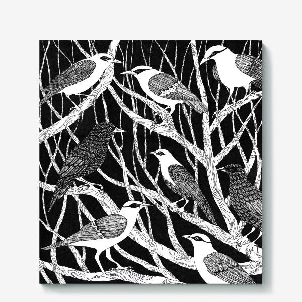 Холст «Птицы»