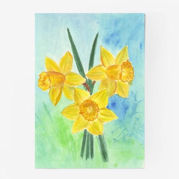 Постер «Желтые нарциссы»