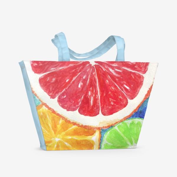 Пляжная сумка «Сочные цитрусы»