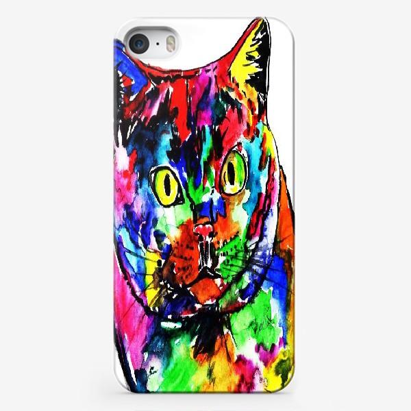 Чехол iPhone «Кот неон»