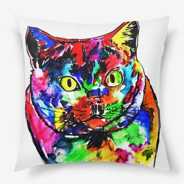 Подушка «Кот неон»