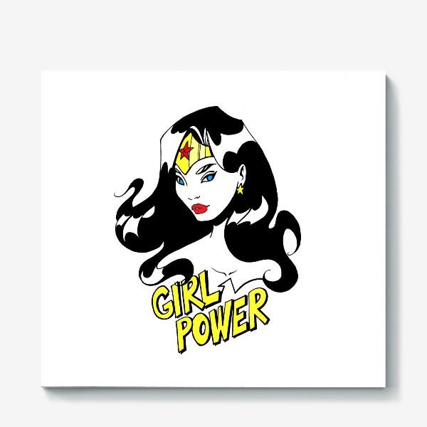 Холст «Wonder Woman. Попарт/Комикс»