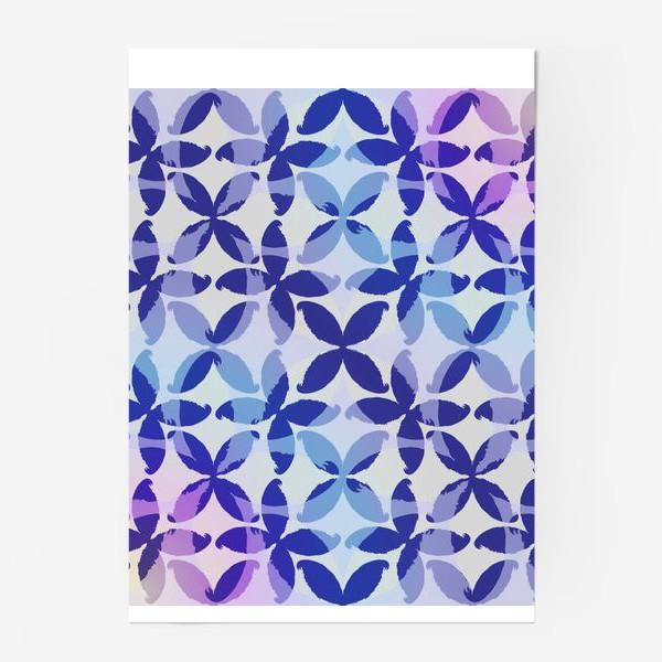 Постер «Синяя абстракцияBlue abstraction»
