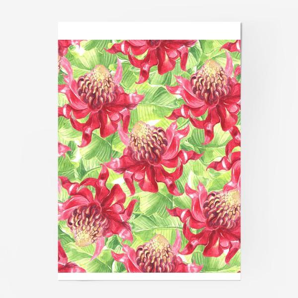 Постер «Exotic flower»