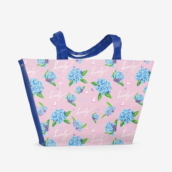 Пляжная сумка «Нежные незабудки»