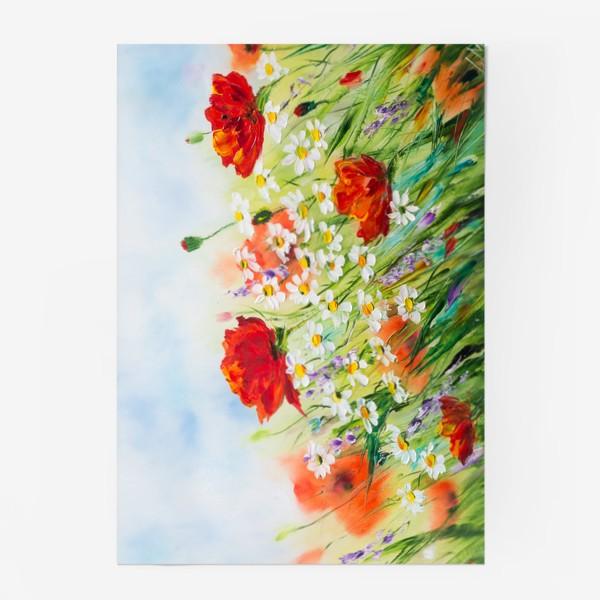 Постер «Маки с ромашками»