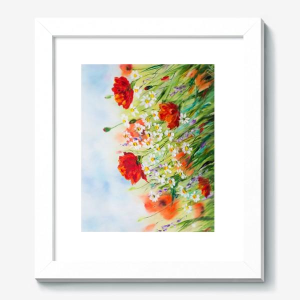 Картина «Маки с ромашками»