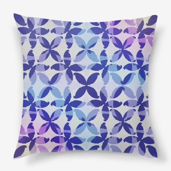 Подушка «Синяя абстракцияBlue abstraction»