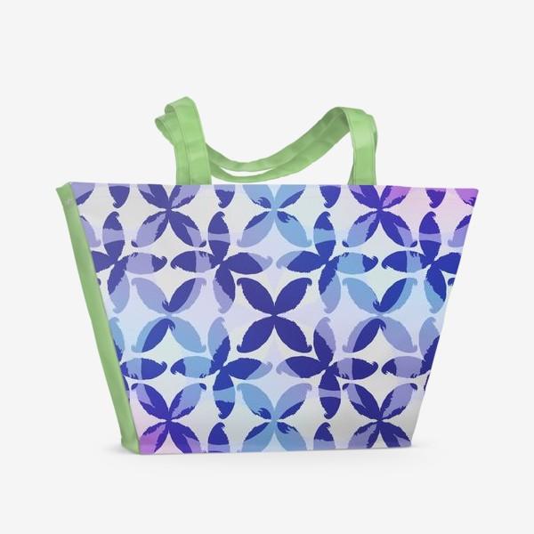 Пляжная сумка «Синяя абстракцияBlue abstraction»