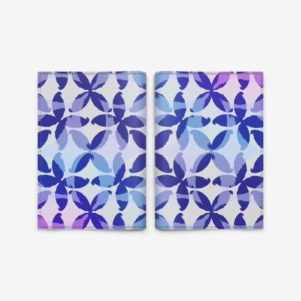 Обложка для паспорта «Синяя абстракцияBlue abstraction»