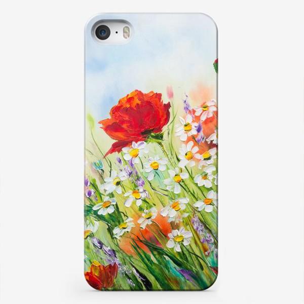 Чехол iPhone «Маки с ромашками»