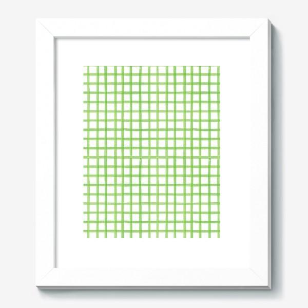 Картина «Зеленая клетка, паттерн»