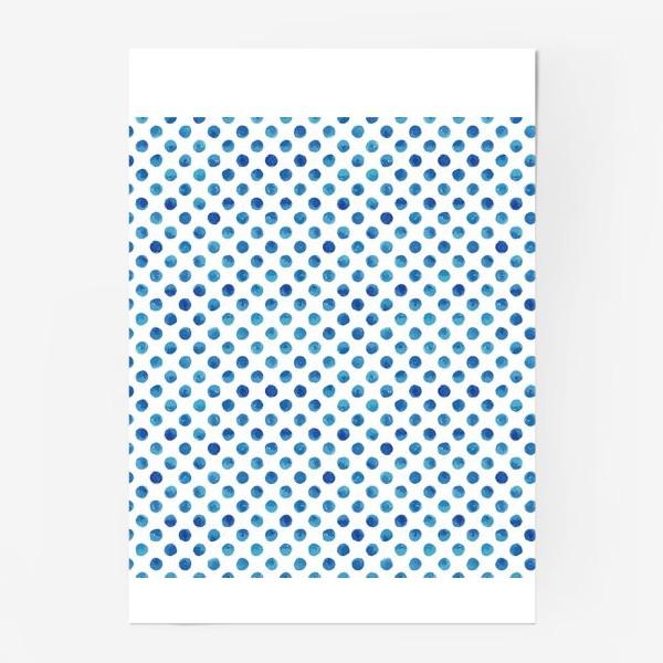Постер «Горох голубой, паттерн»