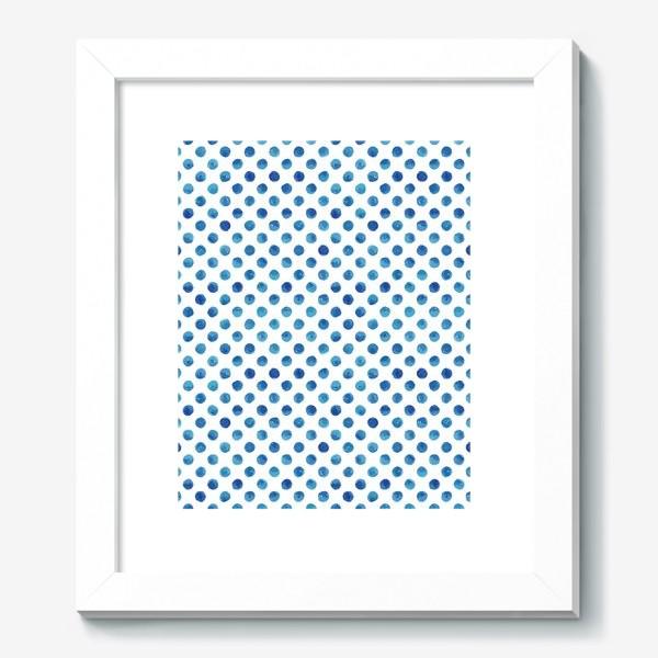 Картина «Горох голубой, паттерн»