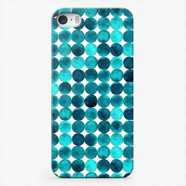 Чехол iPhone «Изумрудный паттерн, круги»