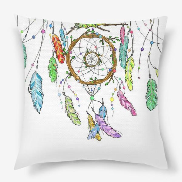 Подушка «Ловец снов и перья»