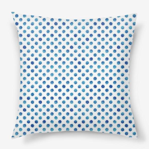 Подушка «Горох голубой, паттерн»