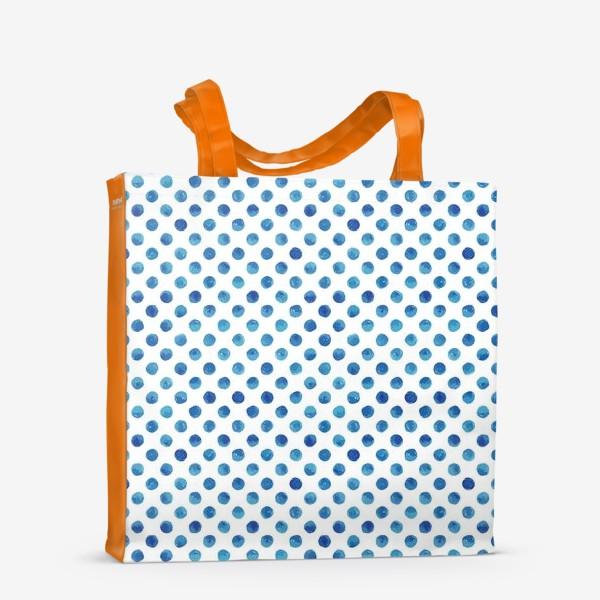 Сумка-шоппер «Горох голубой, паттерн»