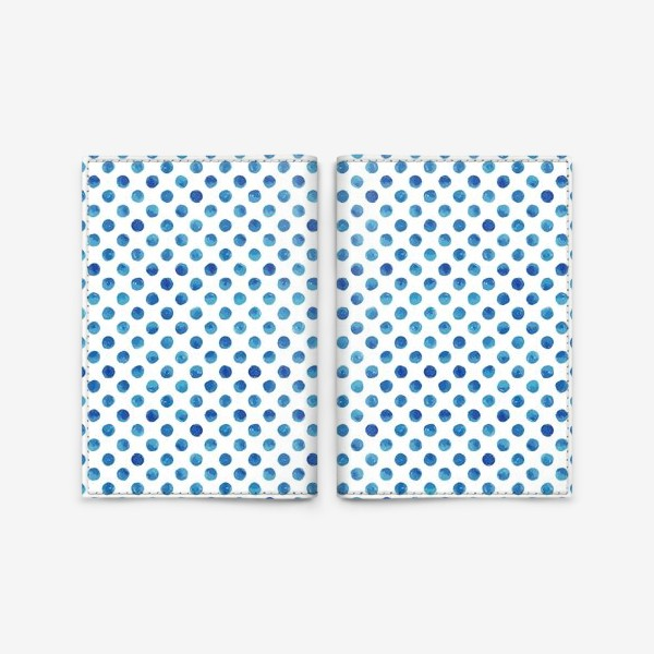 Обложка для паспорта «Горох голубой, паттерн»