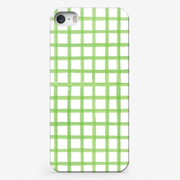 Чехол iPhone «Зеленая клетка, паттерн»
