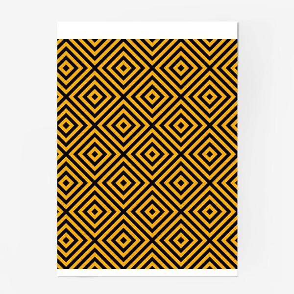 Постер «Золотой абстрактный узор. Abstract gold mosaic»