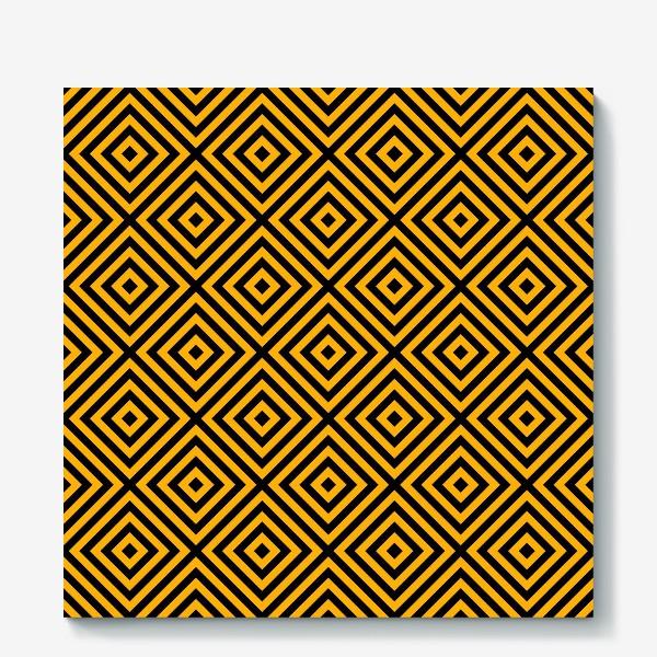 Холст «Золотой абстрактный узор. Abstract gold mosaic»