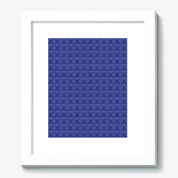 Картина «Абстрактный 3д лист синей бумаги. Abstract 3d blue paper banner»