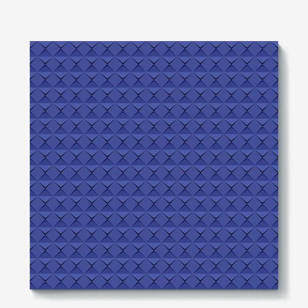 Холст «Абстрактный 3д лист синей бумаги. Abstract 3d blue paper banner»