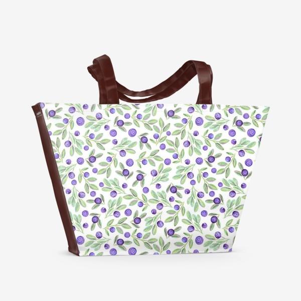 Пляжная сумка «Черника»