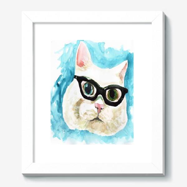 Картина «Белый кот профессор»