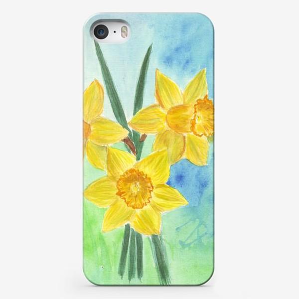 Чехол iPhone «Желтые нарциссы»