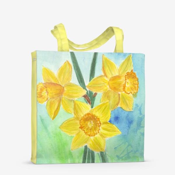 Сумка-шоппер «Желтые нарциссы»