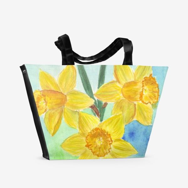 Пляжная сумка «Желтые нарциссы»
