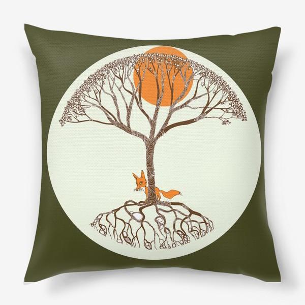 Подушка «Липа и лиса»