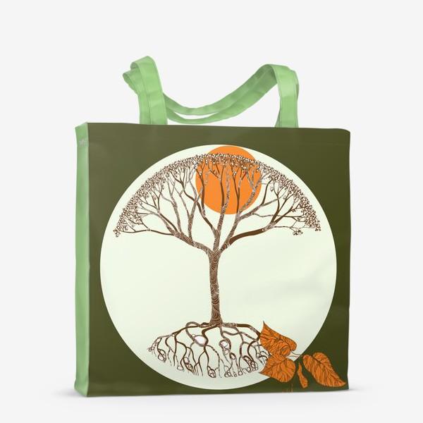 Сумка-шоппер «Липа и листья»