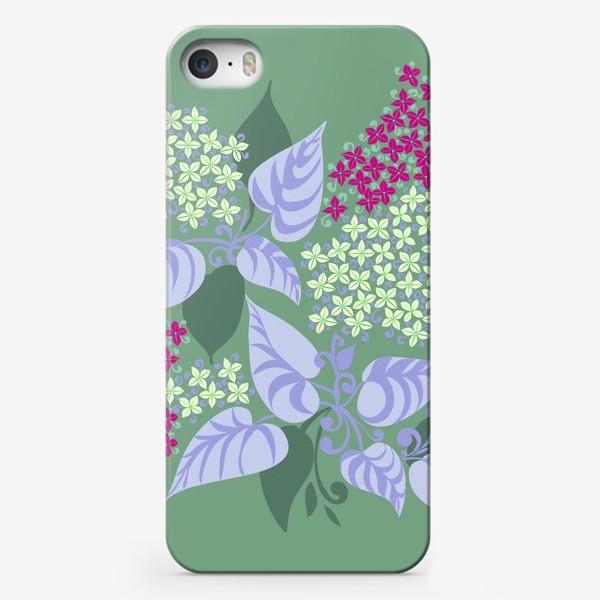 Чехол iPhone «Сирень в зеленоватых тонах»