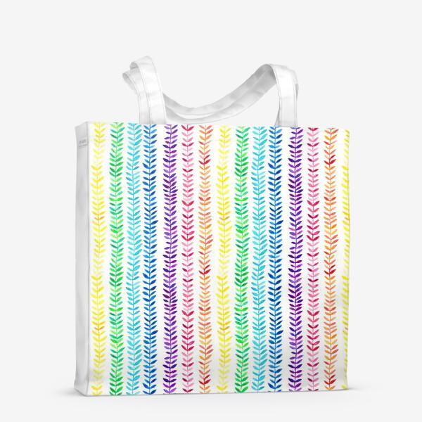 Сумка-шоппер «Листочки-радуга»