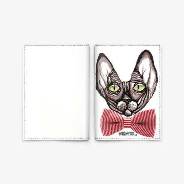 Обложка для паспорта «Котик»