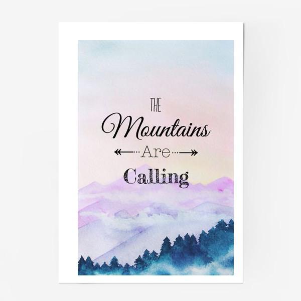Постер «горы зовут»