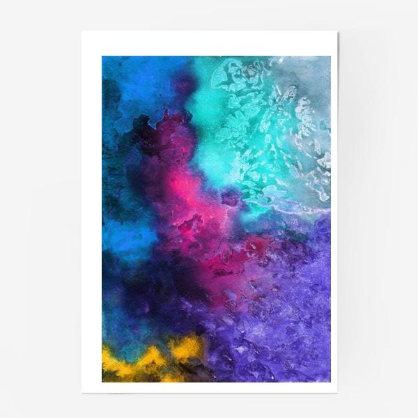 Постер «Акварельная абстракция»
