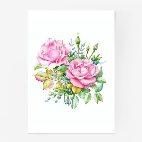 Постер «Розовый букет»