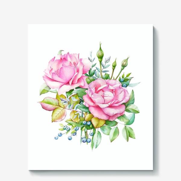 Холст «Розовый букет»