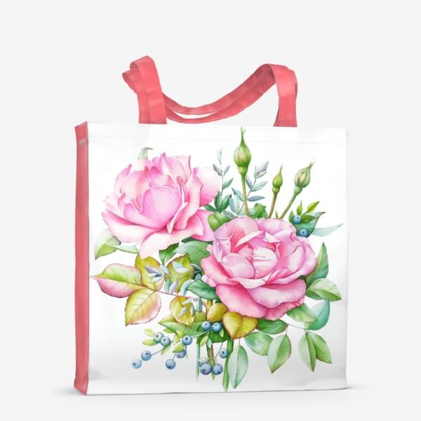 Сумка-шоппер «Розовый букет»