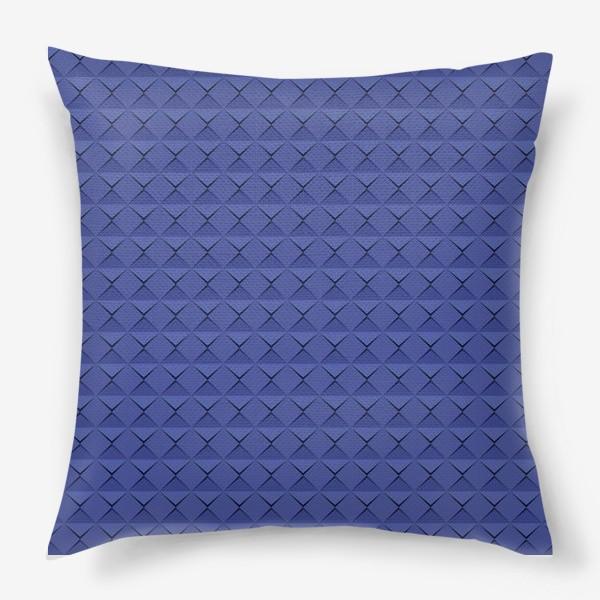 Подушка «Абстрактный 3д лист синей бумаги. Abstract 3d blue paper banner»