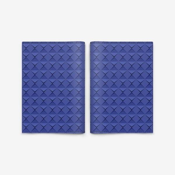 Обложка для паспорта «Абстрактный 3д лист синей бумаги. Abstract 3d blue paper banner»