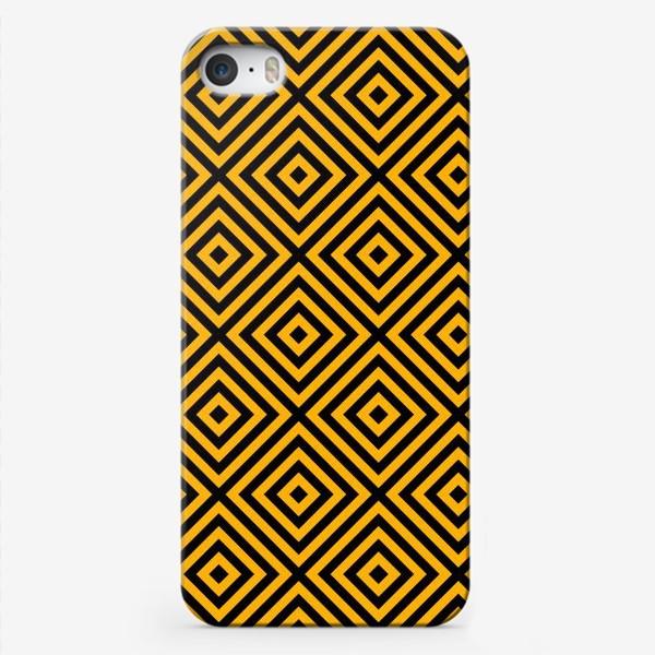 Чехол iPhone «Золотой абстрактный узор. Abstract gold mosaic»