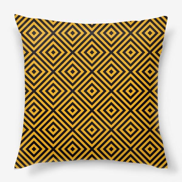 Подушка «Золотой абстрактный узор. Abstract gold mosaic»