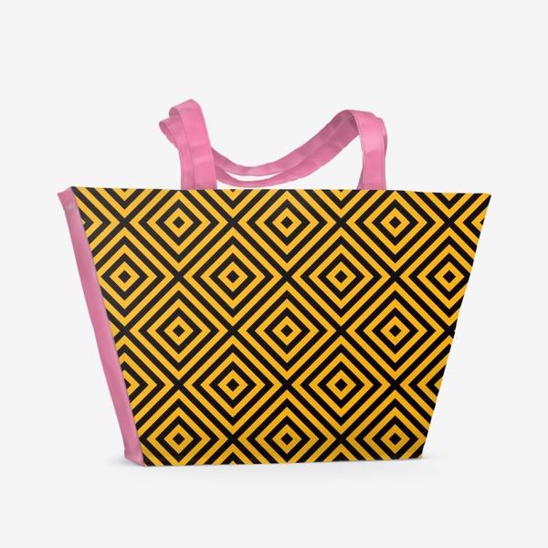 Пляжная сумка «Золотой абстрактный узор. Abstract gold mosaic»