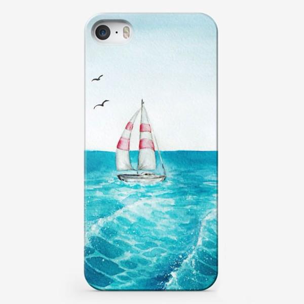 Чехол iPhone «корабль в море»